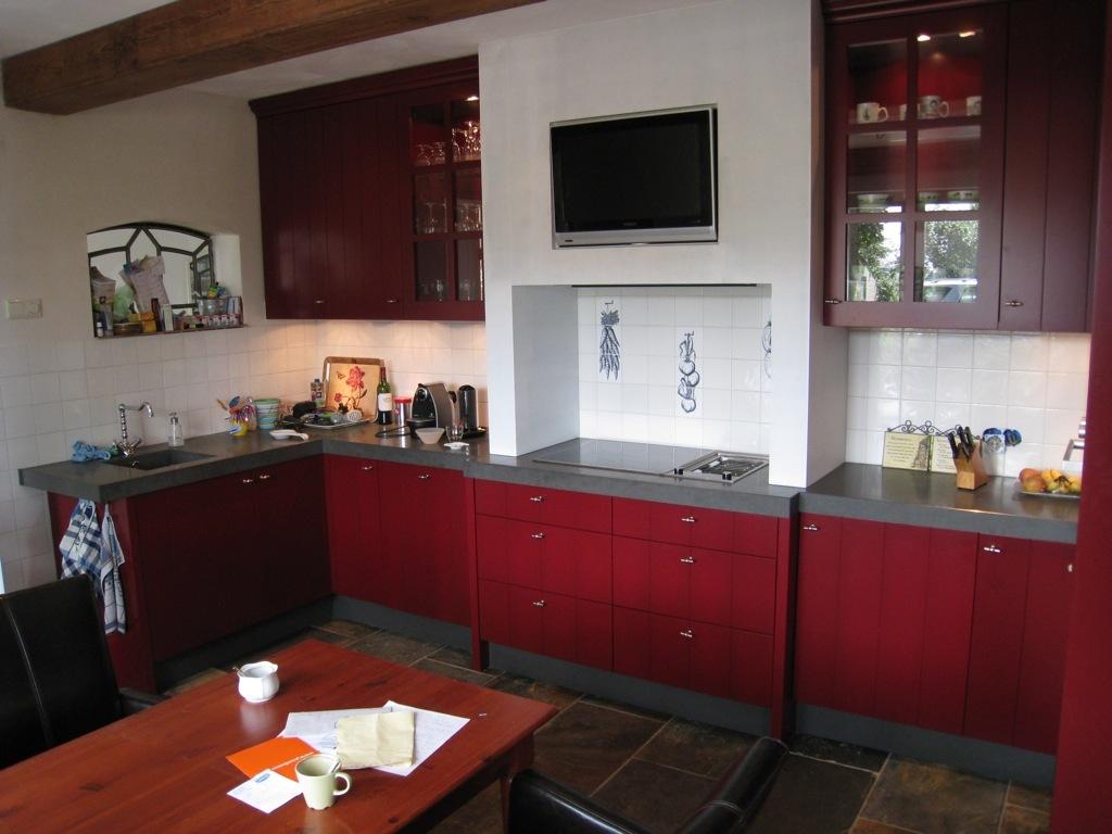 Woonkamer design suggesties ge - Keuken met rode baksteen ...